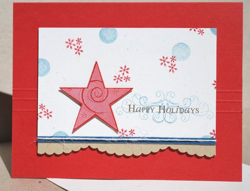 very simple card design i added some embossed strips to the middle before adhering the main panel - Patriotic Christmas Cards